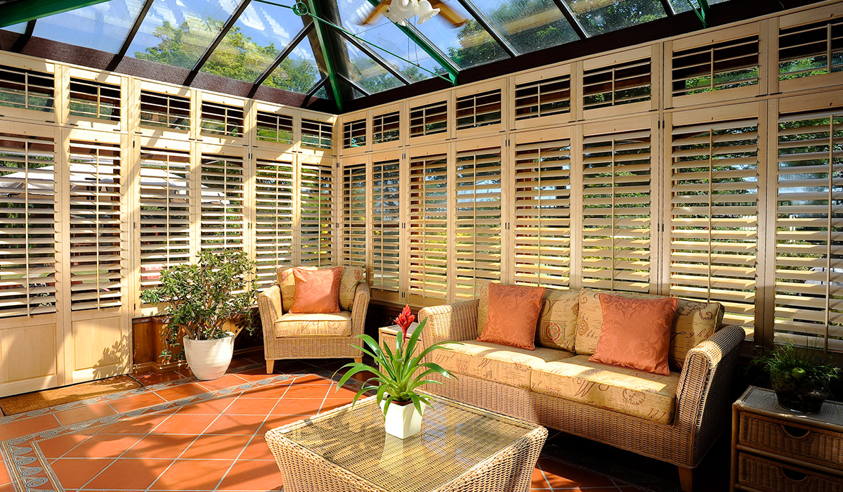 we install conservatory window shutters