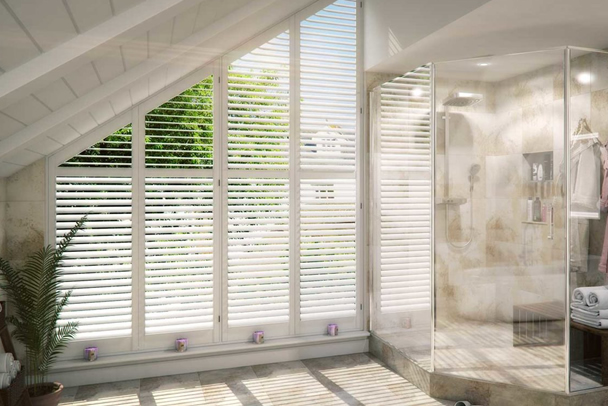 an image showing that we offer a wide range of window shutters in Fulham